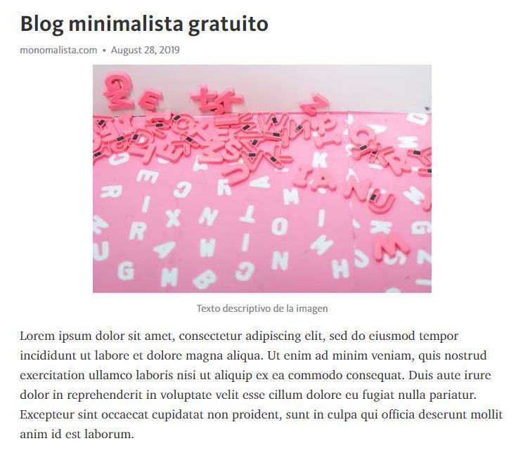blog minimalista gratuito