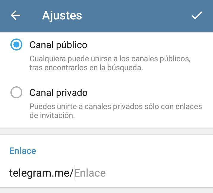 crear canal telegram público